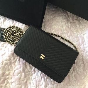 Chanel Black Chevron